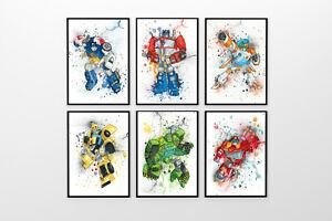 transformers rescue bots bedroom prints optimus prime bumblebee kids gift