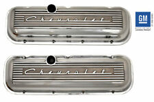 Chevrolet 396 427 454 502 Big Block Tall Valve Covers Raised Logo Polished PML