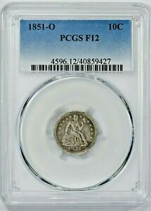 1851-O 10C Seated Liberty Dime PCGS F12 (YY-9427) 99c NO RESERVE  Witter Coin