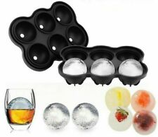 Large Round Ice Cube 6 Whiskey Ball Silicone Mould Tray Sphere Paperweight Craft