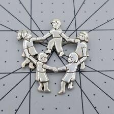 James Avery Sterling Silver Dancing Children Brooch