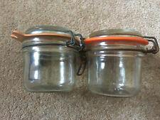 Two Le Parfait Metal Clip Fastening Jars Like Kilner
