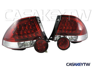New LED RED CLEAR Tail Lights+Rear Trunk Led Lights For LEXUS IS300 98-05