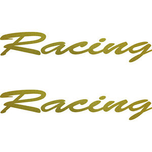 2 Lettering Stickers Racing 20cm Gold Tattoo Decoration Film Car Door Rear Flap