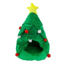 Christmas Tree Pet Dog Cat Bed Bedding Soft Plush Pets Xmas Festive