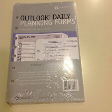 Franklin Covey Outlook Daily Planning Forms Refill Pages Classic 50 Sheet Pack