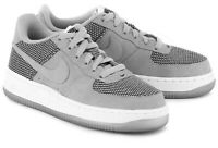 Nike AIR Force 1 sneakers Shoes Sz 5.5 gray white New Boys youth