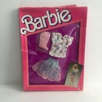 Vintage Barbie Denim Jeans Look Fashion Outfit 1987 NIP 4330 Skirt Cowboy