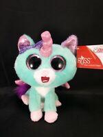"""Russ Unicorn Cat Vega 7"""" Green Pink Shiny Wings Plush Stuffed Animal NEW"""
