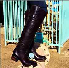 NIB! $395 FREEBIRD BY STEVEN 'QUEBEC' OTK LEATHER BOOT WOMENS BLACK 7M!