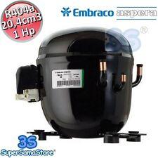 3S MOTORE Compressore R404A r507 1 Hp 20,4 cm3 Embraco Aspera NT2180GK CSR LBP
