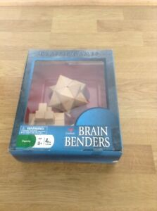 BRAIN BENDERS SET OF 3 WOODEN PUZZLES - CARDINAL BRAND - PICK UP WELCOME
