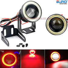 "High Power 3.0""Projector  LED Fog Light W/COB Halo DRL Devil Red Angel Eye Ring"