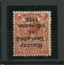 IRELAND 26 1922 2p Die 2 -- R OVER Se VARIETY AND INVERTED OVERPRINT - VERY RARE