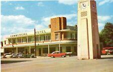 Vintage Postcard -  Memorial Clock & Commercial Hotel, Kerang Victoria c 1960's