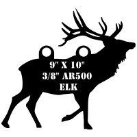 """One AR500 Buffalo Target 13/"""" x 20/"""" x 3//8/"""" Painted Black Shooting Water Bison"""