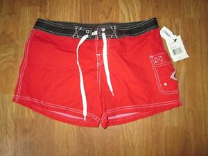 Womens GENUINE MERCHANDISE CINCINNATI REDS boardshorts swim shorts sz S Sm NWT