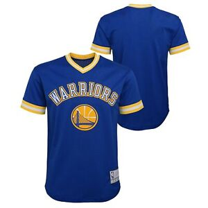 Outerstuff NBA Youth Boys (8-20) Golden State Warriors Tackle Twill Mesh Top
