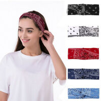 boho style ladies print cross headband hair band hair accessories~