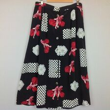 Vintage Kathy Lee Maxi Skirt Womens 18W Boho Floral Pockets