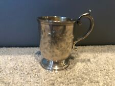 Huge Antique American Coin Silver Cup 1865