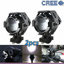 2x U5 CREE LED Lamp 15W Projector Lens Auxiliary Fog Light for Yamaha FZ-S FI
