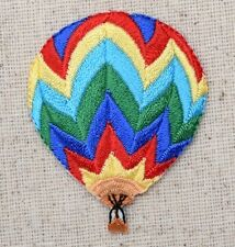 Small Hot Air Balloon - Colorful Chevron - Iron on Applique/Embroidered Patch