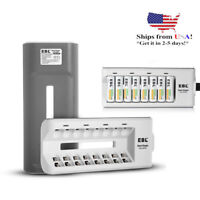 8 Slot Battery Charger for AA AAA NI-MH NI-CD Rechargeable Battery With US Plug