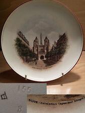 ancienne assiette souvenir de Dijon église Saint Bénigne art déco début XX ème