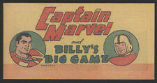 Captain MARVEL and Billy's Big Game, 1948, Vital