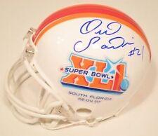 Bob Sanders Autographed SB XLI Riddell Mini Helmet