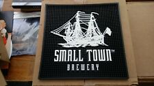 Brand New Small Town Brewery Beer Server Station Mat Rail Bar Mat