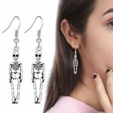 Skull Earrings Body Skeleton Hallowen Ear Stud Punk Style Vintage Women Jewelry