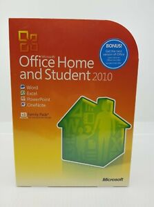 NEW Microsoft Office Home & Student (2010) (3 PC) Retail Box - 79G-02144