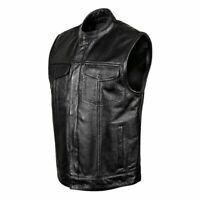 Men/'s Motorcycle Canvas Vest With Two Concealed Carry Pockets Fairfax V2