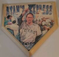 Nolan ryan Commemorative Serigraph Limited Edition Home Plate With CoA
