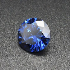 Natural Blue Tanzanite Sapphire 26.9ct 16mm Faceted Cut AAAAA VVS Loose Gemstone