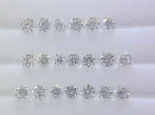 Natural Loose Diamond F Color 20pc 0.8-1mm 0.09cts SI Clarity Brilliant Cut