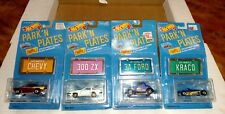 HOT WHEELS MATTEL PARK N PLATES LOT OF 4 - 57 CHEVY - 300 ZX - 34 - FORD - KRACO