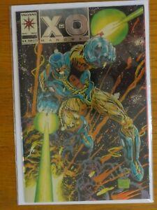 X-O Manowar #0 (1992) w/Chromium Cover and Gold Logo + Silver Valiant Comics