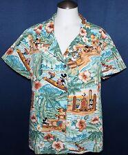 Disney Mickey Mouse Reyn Spooner Women Mens Hawaiian Aloha SS Shirt Extra Small
