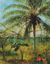 """Albert Bierstadt, """"Palm Tree, Nassau, 1892"""", digital, 28""""h x 22""""w image"""