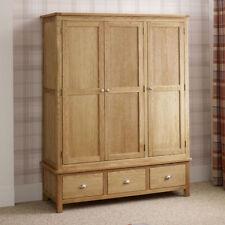 Unbranded Oak Wardrobes with 3 Doors