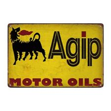 Metal Tin Sign agip motor oil Bar Pub Home Vintage Retro Poster Cafe ART