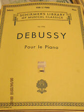 Debussy Pour le Piano Schirmers Vol. 1795