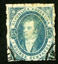Argentina Stamps # 13 Used Fresh Scott Value $150.00