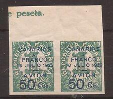 1937 Canario en Republica y nacionales habilitados Edifil 11s** VC 40,00€ PAREJA