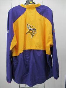 H2465 Reebok Minnesota Vikings NFL-Football Windbreaker Jacket Size L