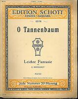 """G. Reinhardt """" O Tannenbaum """" leichte Fantasie, alte Noten, übergroß"""