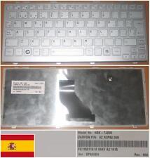 CLAVIER QWERTY ESPAGNOL TOSHIBA NB200 NSK-TJ00S 9Z.N2P82.00S PK130811A19 Gris